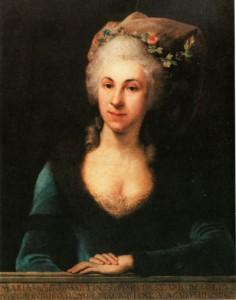 Marianna Martines, Gemälde von Anton Maron, 1770er Jahre (Wien Museum)