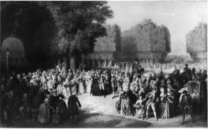Mozarts Begegnung mit Kaiserin Maria Theresia und Joseph II. im Augarten