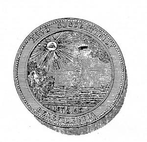 Allegorisches Siegel der Loge zur Wohltätigkeit
